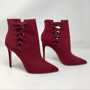ALDO Burgundy Stiletto Booties